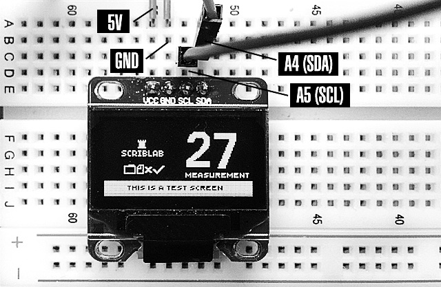 Interface a cheap OLED (SSD1306) from eBay with an Arduino